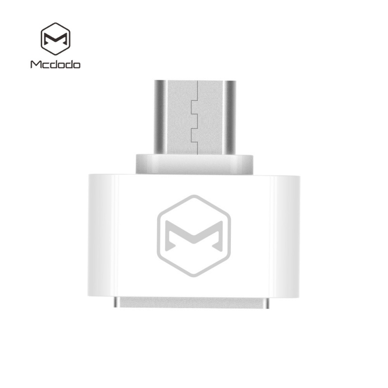 Mcdodo USB AF To Micro USB Aluminum Alloy (18x18x9 mm) White