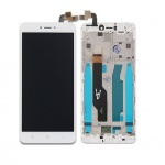 Xiaomi Redmi Note 4 / 4X (Qualcomm/Global) LCD + Touch + Frame (Assembled) - White (OEM)