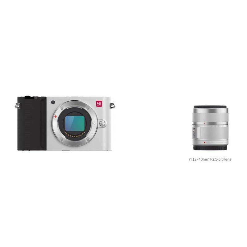 Yi M1 4K Mirrorless kamera + 12-40mm F3.5-5.6, stříbrná