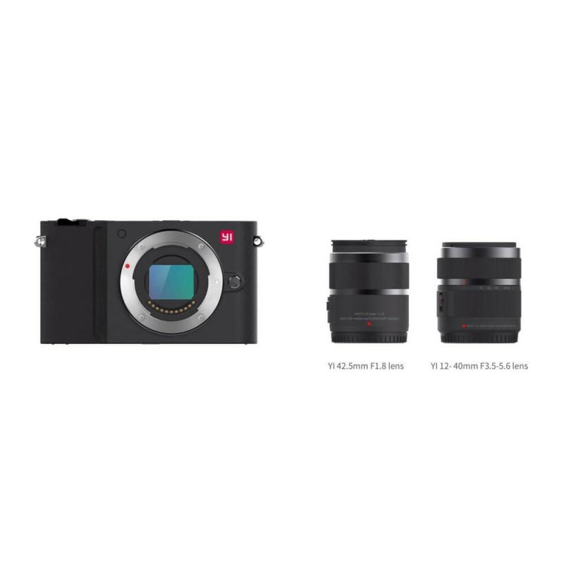 Yi M1 + 12-40mm + 42.5mm f/1.8, černá