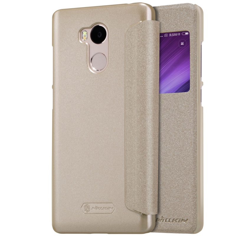Nillkin Sparkle kožené pouzdro  Xiaomi Redmi 4 Pro, Gold