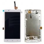 LCD + Touch + Frame (Assembled) pro Lenovo A2010 White (OEM)