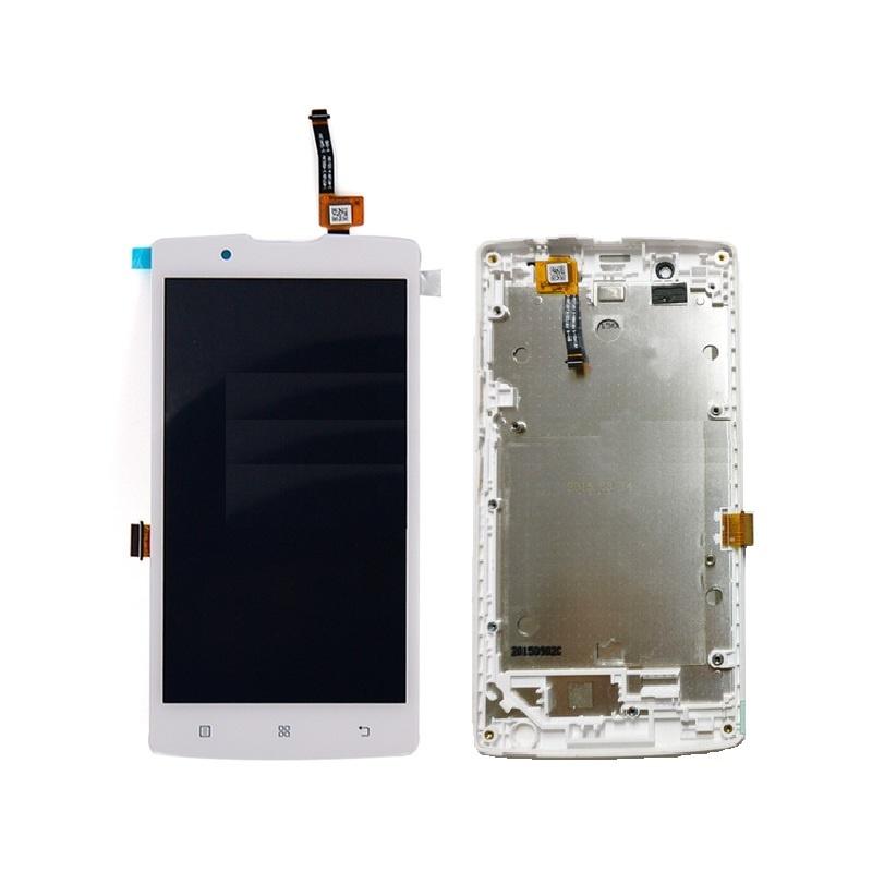 Lenovo A2010 LCD + dotyk + rám  (spojený), bílá