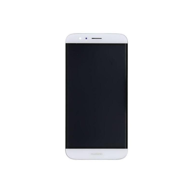 Huawei G8 LCD + dotyk + rám (monoblok), bílý