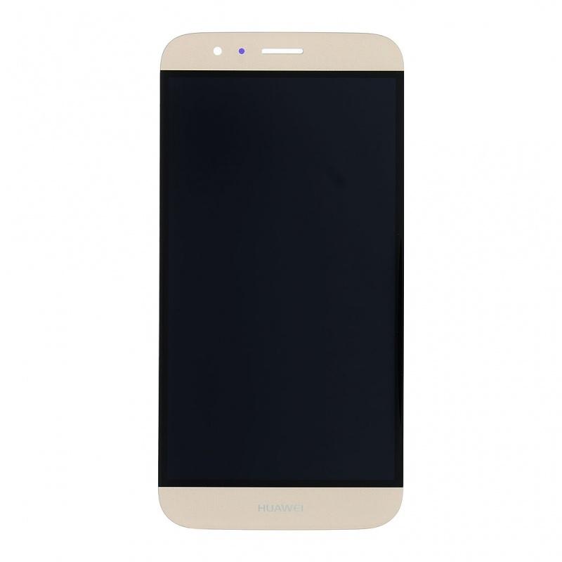 Huawei G8 LCD + dotyk + rám (monoblok), zlatý