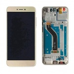 LCD + Touch + Frame (Assembled) pro Huawei P8 Lite (2017) - Gold (OEM)