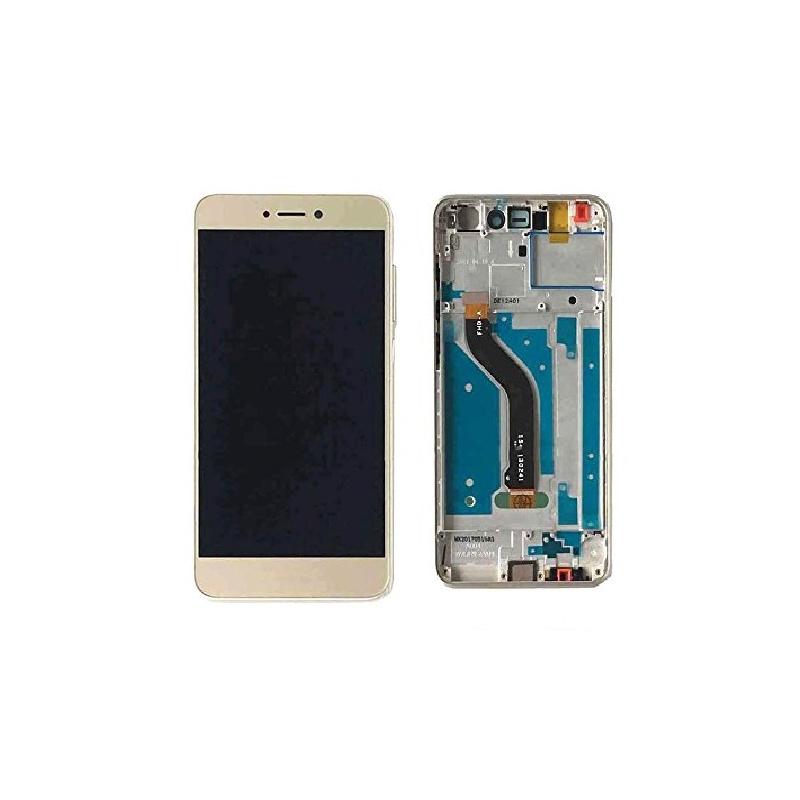 Huawei P8 Lite LCD + dotyk + rám (monoblok), zlatý 2017