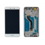 LCD + Touch + Frame (Assembled) pro Huawei P8 Lite (2017) - White (OEM)