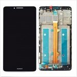LCD + Touch + Frame (Assembled) pro Huawei Mate 7 Black (OEM)