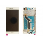 LCD + Touch + Frame (Assembled) pro Huawei G9 - White (OEM)