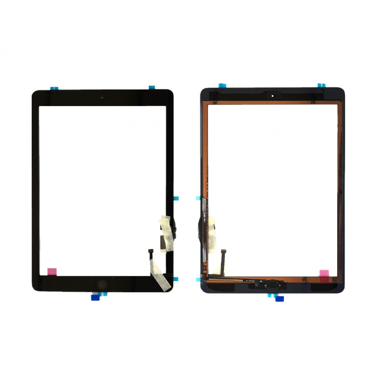 Touch with Home Button and Original Adhesive Black pro Apple iPad (Air) / iPad 5.gen 2017