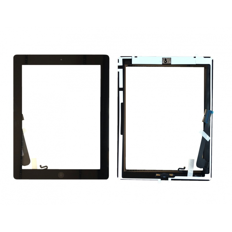 Touch with Home Button and Original Adhesive Black pro Apple iPad 4