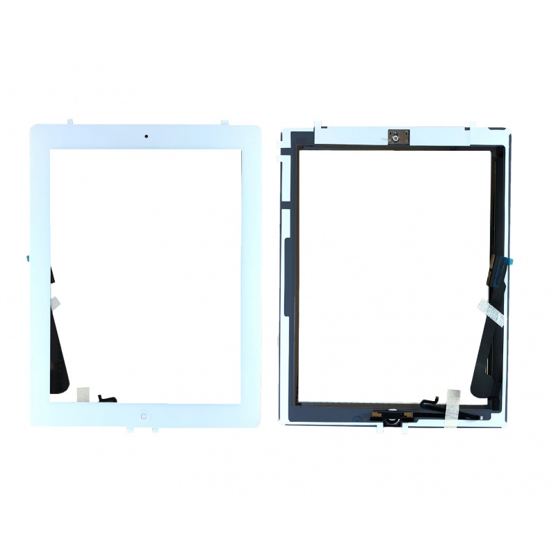 Touch with Home Button and Original Adhesive White pro Apple iPad 4