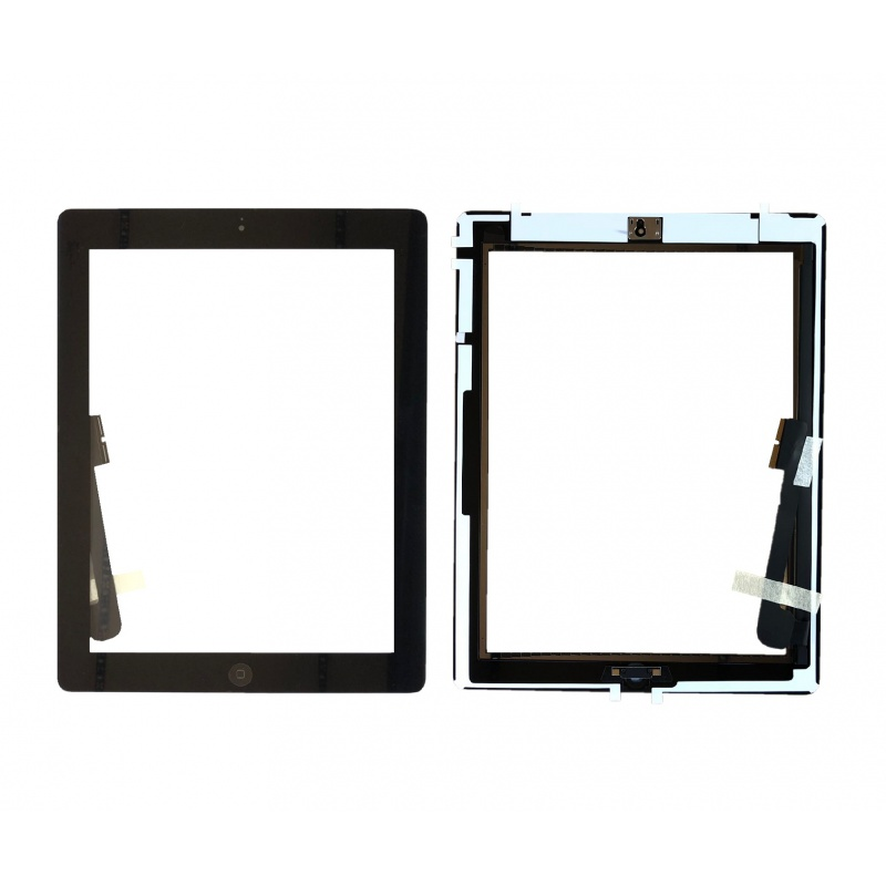 Dotyková obrazovka včetně tlačítka Home a originálního lepení,černý pro Apple iPad 3