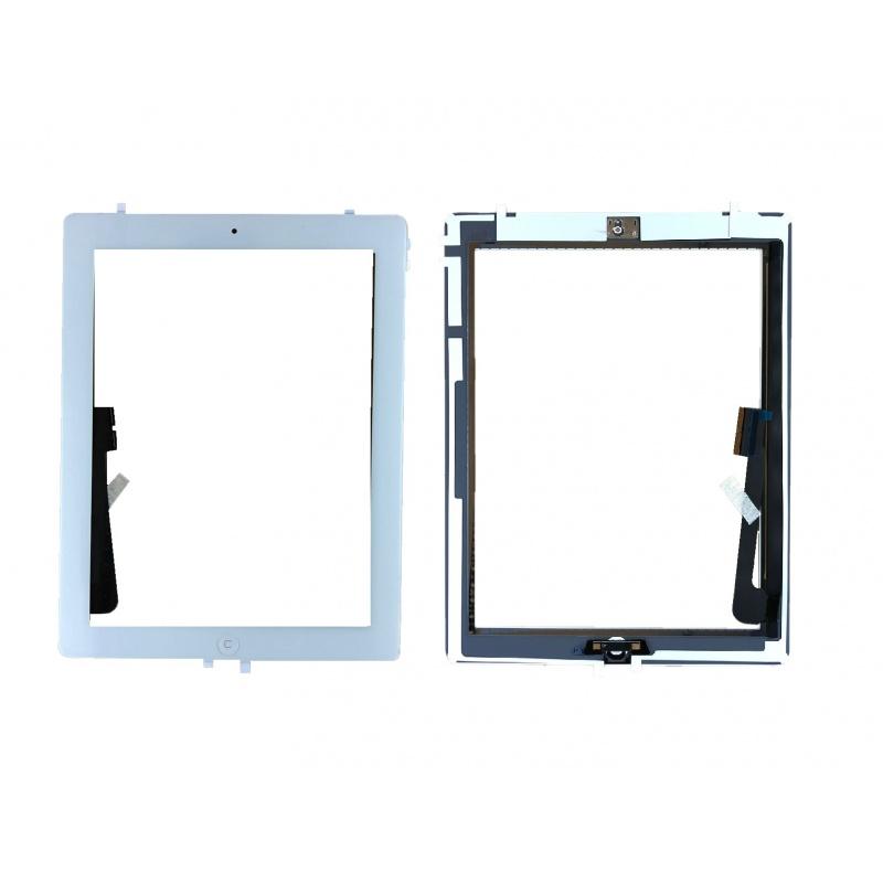 Dotyková obrazovka včetně tlačítka Home a originálního lepení,bílá pro Apple iPad 3