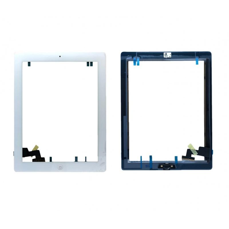 Dotyková obrazovka včetně tlačítka Home a lepení pro Apple iPad 2, bílý