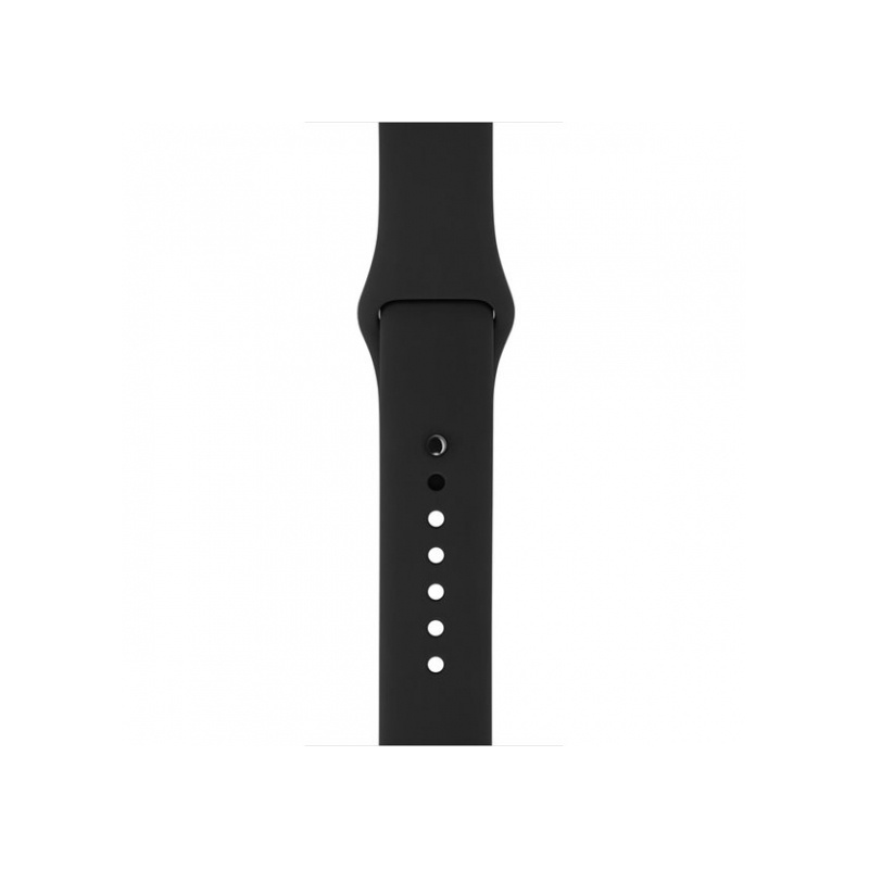 Silicon Sport Band For Apple Watch 38mm Black