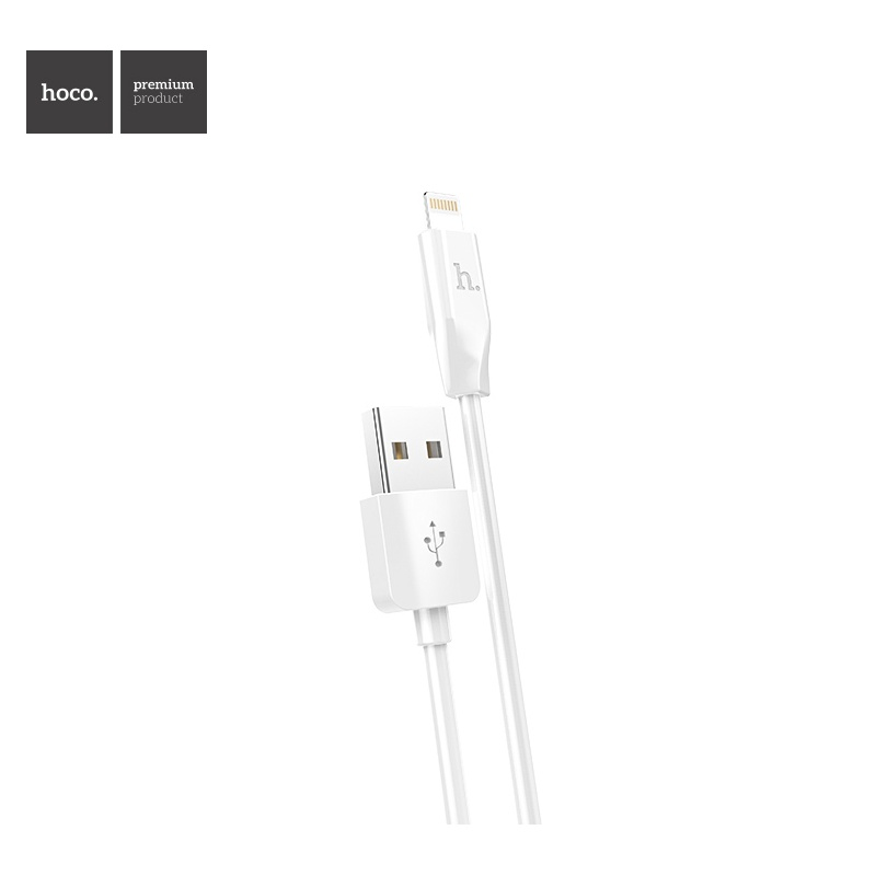 Hoco Rapid Charging Cable - Lightning (White) 2pcs