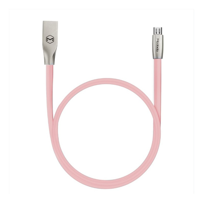 Mcdodo Zinc Alloy Seires Micro USB Cable 1m Pink