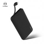 Mcdodo Excelle Series 10000mAh Power Bank with Cable Black