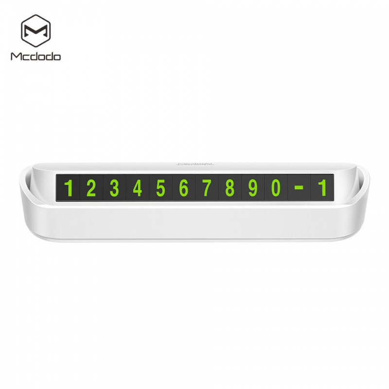 Mcdodo Car Temporary Parking Phone Number Plate White