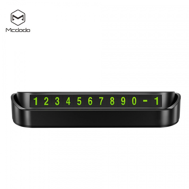 Mcdodo Car Temporary Parking Phone Number Plate Black