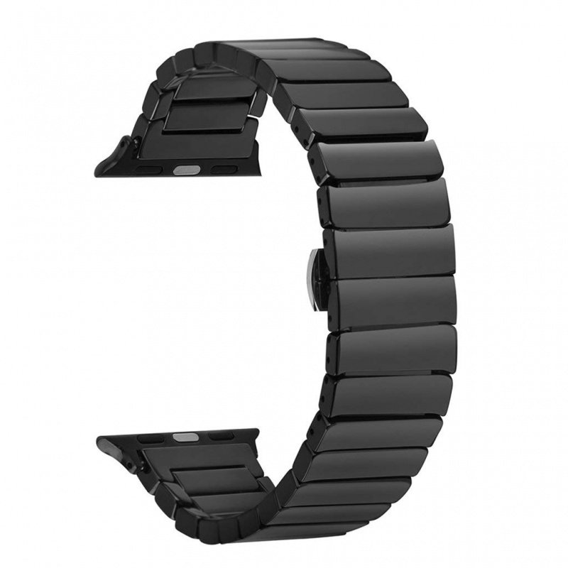Stainless Steel Metal Strap Band For Apple Watch 38mm Black