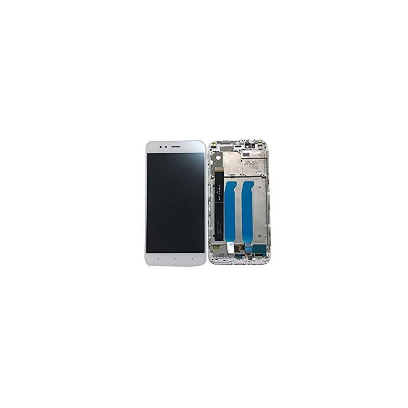 Xiaomi Mi A1 LCD + Touch + (Assembled) Frame White (OEM)