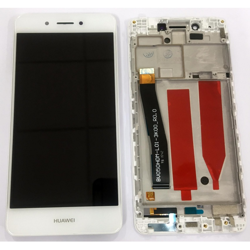 Huawei Nova Smart LCD + Touch + Frame (Assembled) White