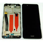 LCD + Touch + Frame (Assembled) pro Huawei Nova Smart - Black (OEM)
