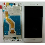 LCD + Touch + Frame (Assembled) pro Huawei Y7 - White (OEM)
