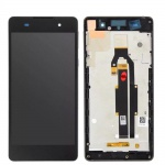 LCD + Touch + Frame (Assembled) pro Sony Xperia E5 Black (OEM)