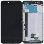 Xiaomi Redmi Note 5A LCD + Touch + Frame (Assembled) - Black (OEM)