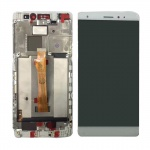 LCD + Touch + Frame (Assembled) pro Huawei Mate S White (OEM)