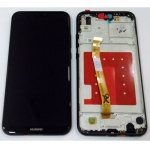 LCD + Touch + Frame (Assembled) pro Huawei P20 Lite - Black (OEM)
