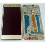 LCD + Touch + Frame (Assembled) pro Huawei Y6 (2017) - Gold (OEM)