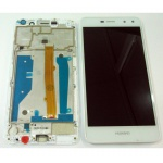 LCD + Touch + Frame (Assembled) pro Huawei Y6 (2017) White (OEM)