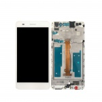 LCD + Touch + Frame (Assembled) pro Huawei Y6 II - White (OEM)