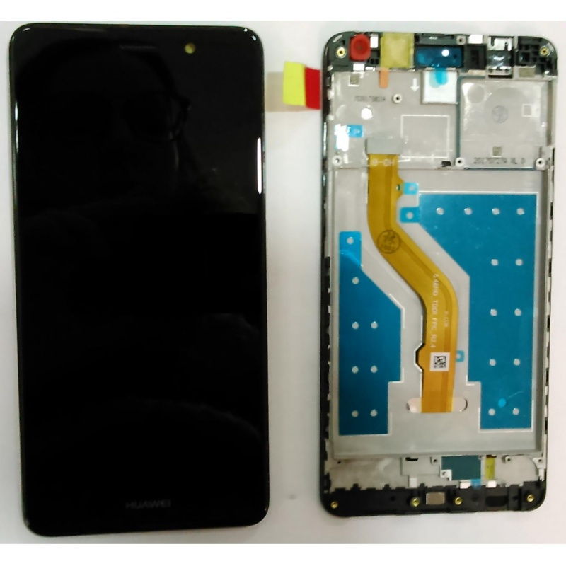 Huawei Y7 LCD + Touch + Frame (Assembled) Black