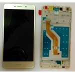 LCD + Touch + Frame (Assembled) pro Huawei Y7 - Gold (OEM)