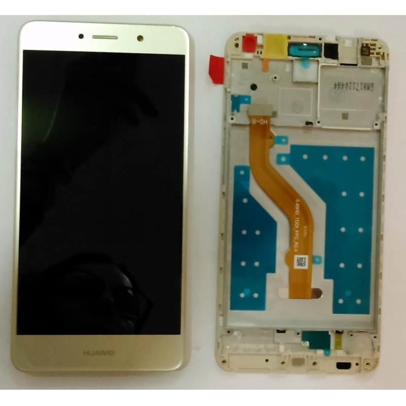 Huawei Y7 LCD + Touch + Frame (Assembled) Gold
