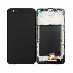 LCD + Touch + Frame (Assembled) pro LG K10 2017 Black (OEM)
