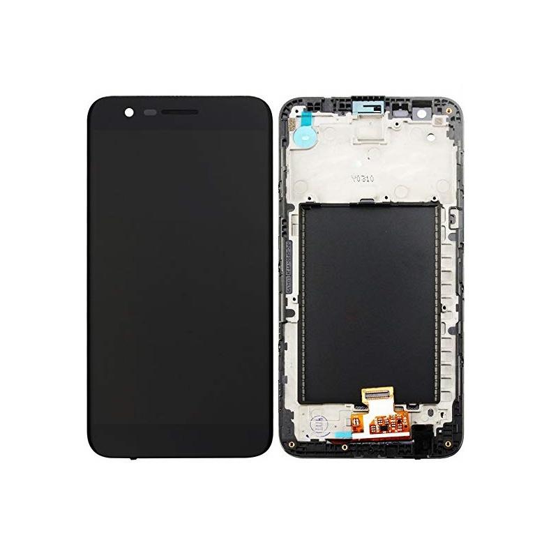 LG K10 2017 LCD + Touch + Frame (assembled) Black
