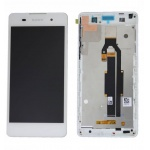 LCD + Touch + Frame (Assembled) pro Sony Xperia E5 White (OEM)
