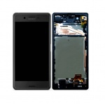 LCD + Touch + Frame (Assembled) pro Sony Xperia X Black (OEM)