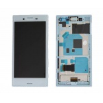 LCD + Touch + Frame (Assembled) pro Sony Xperia X Compact Blue (OEM)