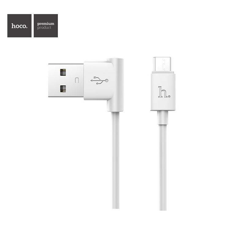 Hoco Shape Charging Cable for Micro USB - USB (White)