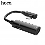 Hoco Dual Lightning Digital Audio Converter for Lightning (Black)