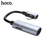 Hoco Dual Lightning Digital Audio Converter for Lightning (Metal Grey)