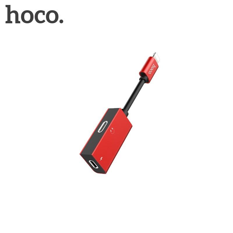 Hoco Dual Lightning Digital Audio Converter for Lightning (Red)